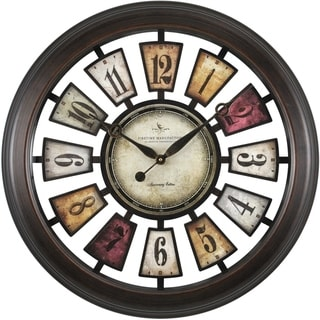 """FirsTime® Numeral Plaques Wall Clock - 22.5"""""""
