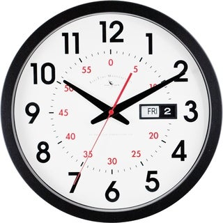 """FirsTime® Day Date Wall Clock - 14"""""""