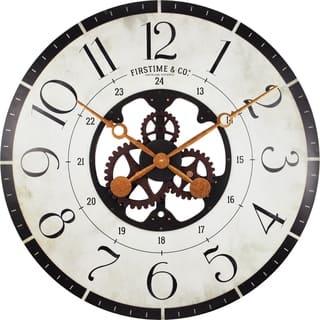 "FirsTime® Carlisle Gears Wall Clock - 27"""