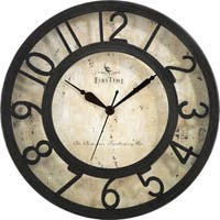 """FirsTime® Raised Number Wall Clock - 8"""""""