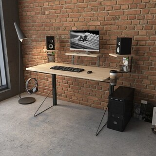 Jamesdar Carnegie Gaming Desk in Black/Natural