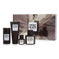Kenneth Cole Men's Vintage Black 4-piece Gift Set