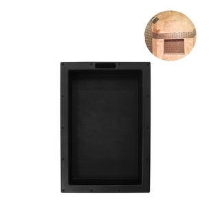 """Ready For Tile Leak Proof 17"""" x 25"""" Rectangular Bathroom Recessed Shower Shelf  Shower Niche Storage For Shampoo and Toiletry"""