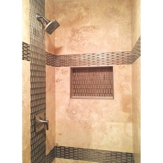 "Ready For Tile Leak Proof 17"" x 25"" Rectangular Bathroom Recessed Shower Shelf Shower Niche Storage For Shampoo and Toiletry"