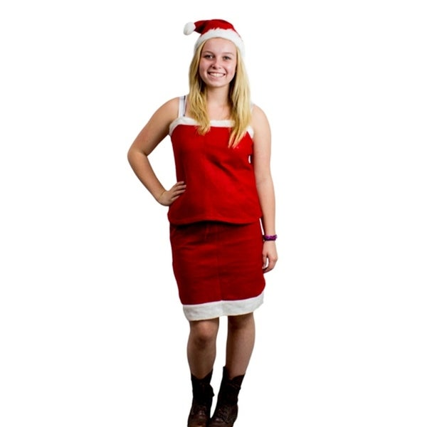 Mrs Santa Claus Christmas Costume Outfit Dress Up Set with Skirt, Tank Top  & - Shop Mrs Santa Claus Christmas Costume Outfit Dress Up Set With
