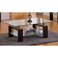 Best Quality Furniture Espresso 2-Piece Coffee and End Table Set