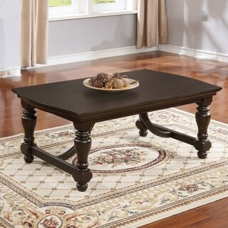 Best Quality Furniture Cappuccino Finish Wooden 2-piece Coffee and End Table Set