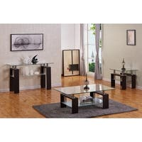 Best Quality Furniture Espresso 3-Piece Coffee, End and Console Table Set