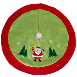 "Christmas Decoration Traditional Santa Claus  36"" Christmas Tree Skirt"
