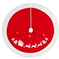 """Christmas Decoration Snowflake & Reindeer Sleigh 36"""" Christmas Tree Skirt"""