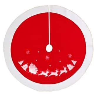 Christmas Decoration Snowflake Reindeer Sleigh 36 Tree Skirt