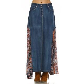 Deema Woven Mixed Skirt