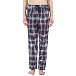 Leisureland Women's Navy Plaid Lounge Pajama Pants