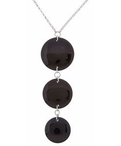 Glitzy Rocks Sterling Silver Black Onyx Bead Necklace