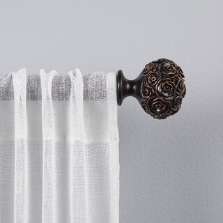 "ATI Home Peony 1"" Curtain Rod and Finial Set"