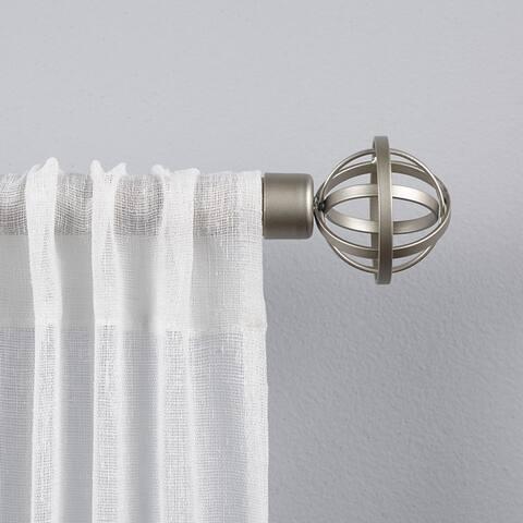 "ATI Home Jetson 1"" Curtain Rod and Finial Set"