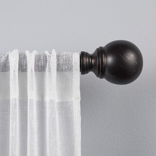 "ATI Home Sphere 1"" Curtain Rod and Finial Set"
