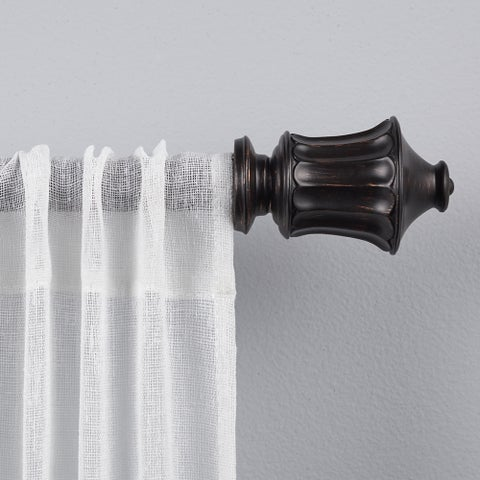 "ATI Home Lantern 1"" Curtain Rod and Finial Set"