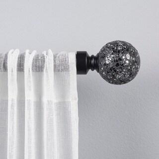 The Gray Barn Dreamweaver Black Pearl Mosaic 1-inch Curtain Rod and Finial Set
