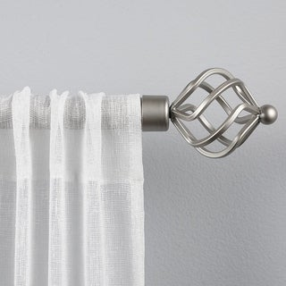Link to Porch & Den Freret 1-inch Curtain Rod and Finial Set Similar Items in Window Treatments