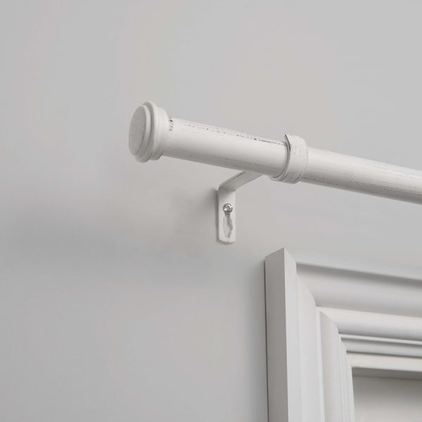White Wrought Iron Curtain Rods