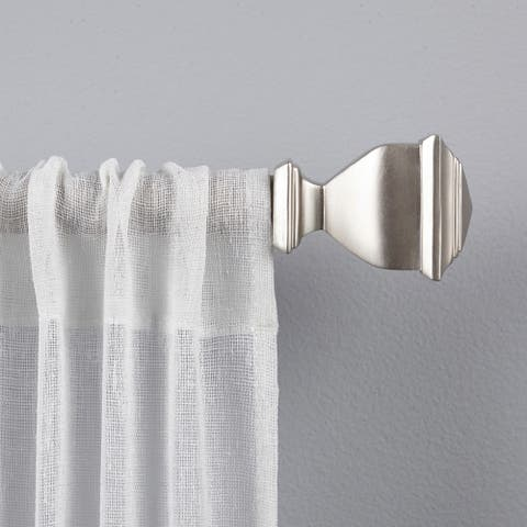 Porch & Den Granada 1-inch Curtain Rod and Finial Set