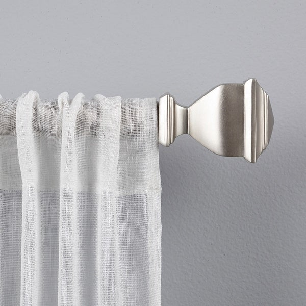 Porch & Den Granada 1-inch Curtain Rod and Finial Set. Opens flyout.
