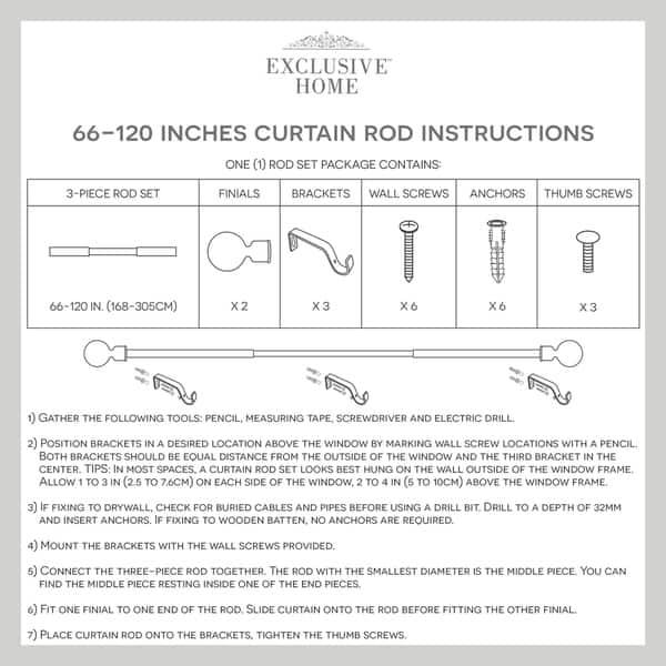 Shop Porch Den Granada 1 Inch Curtain Rod And Finial Set On