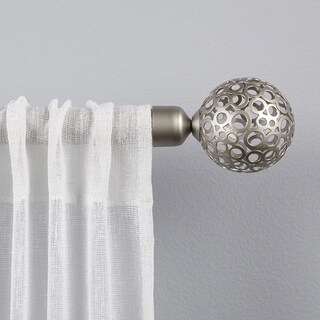 "ATI Home Globe 1"" Curtain Rod and Finial Set"