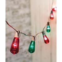 Red & Green Edison String Lights