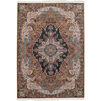 eCarpetGallery Persian Collection Tabriz Brown Power-loomed Area Rug - 6'7 x 9'10
