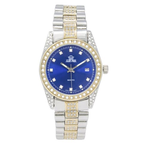 Dakota Womens Jean Paul Big Bling 37mm Jeweled Watch