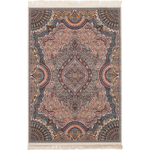 eCarpetGallery Persian Collection Isfahan Brown Power-loomed Rug (6'7 x 9'10) - 6' x 9'