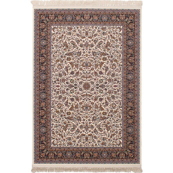 eCarpetGallery Persian Robot Woven Collection Mashad Power-loomed Ivory/Multicolored Rug - 6'7 x 9'10