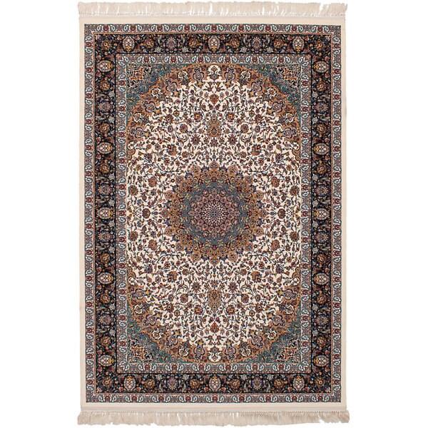 eCarpetGallery Persian Collection Mashad Ivory Rug - 6'7 x 9'10