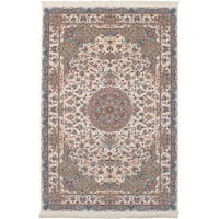eCarpetGallery Power-loomed Persian Collection Tabriz Ivory/Multicolor Rug - 6'7 x 9'10
