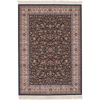 eCarpetGallery Persian Collection Mashad Blue Power-loomed Area Rug - 6'7 x 9'10
