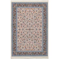 eCarpetGallery Persian Collection Nain Power-loomed Ivory/Multicolored Indoor Rectangular Rug - 6'7 x 9'10