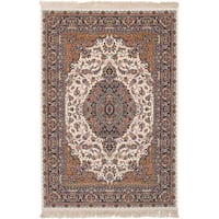 eCarpetGallery Power-loomed Persian Collection Tabriz Ivory Rug - 6'7 x 9'10
