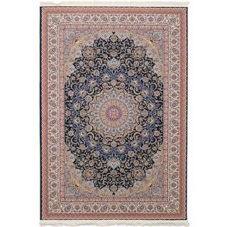 eCarpetGallery Persian Collection Mashad Blue Rug (6'7 x 9'10)