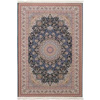 eCarpetGallery Persian Collection Mashad Blue Rug - 6'7 x 9'10