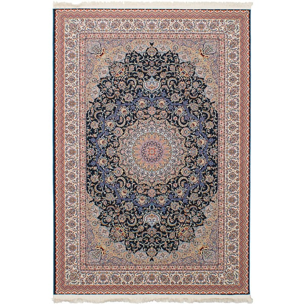 eCarpetGallery Persian Collection Mashad Blue Rug (6'7 x 9'10) - 6' x 9'