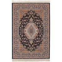 eCarpetGallery Persian Collection Tabriz Blue Power-loomed Rug (6'7 x 9'10) - 6' x 9'