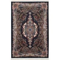eCarpetGallery Persian Collection Power-loomed Tabriz Blue/Copper/Cream Rug - 6'7 x 9'10