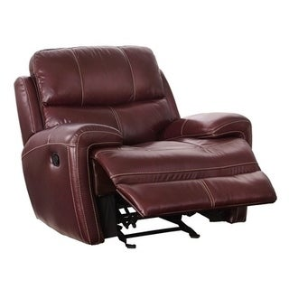 Mayville Leather Glider Recliner