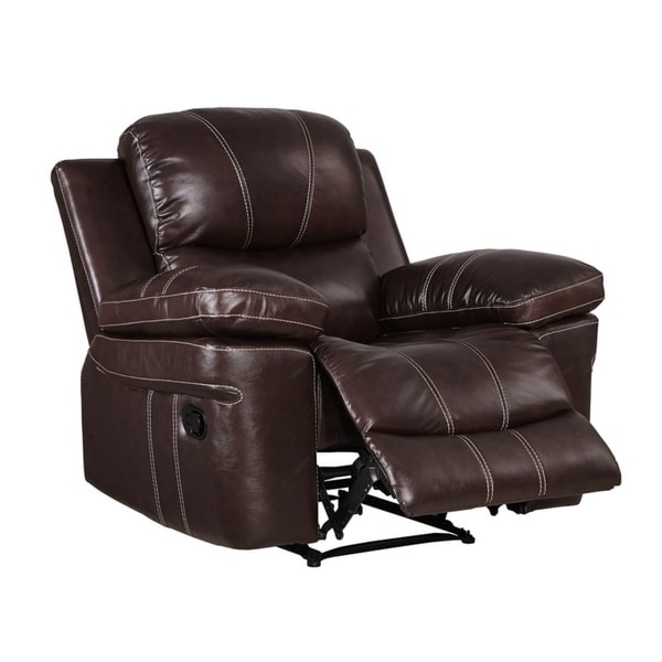 Shop Dante Leather Recliner Free Shipping Today
