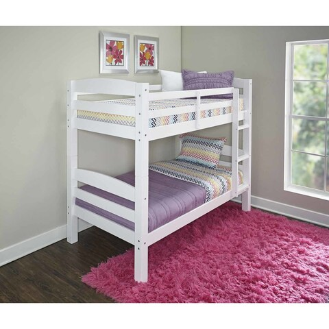 Powell Levi White Wood Bunk Bed