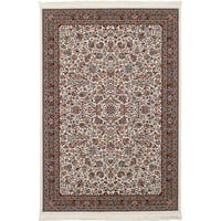 eCarpetGallery Persian Collection Kashan Ivory Rug (6'7 x 9'10) - 6' x 9'
