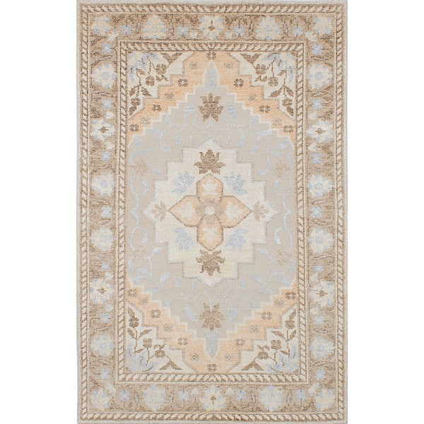 Ecarpetgallery Ivory Brown Hand Knotted Bamboo Silk Area Rug 5 X27