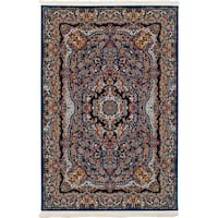 eCarpetGallery Persian Robot Woven Collection Isfahan Power-loomed Blue/Multicolored Indoor Rectangular Rug - 6'7 x 9'10